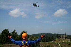 Hubschrauber in Anflug